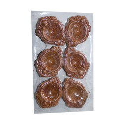 Clay Diya Decorated Set of 6