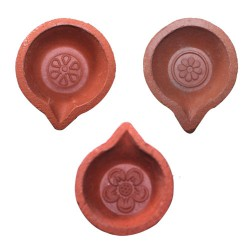 Clay Diya Plain Small 10pcs