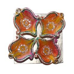 Clay Diya Colour M2 Set of 4