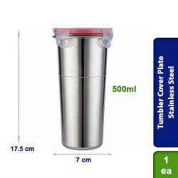 Click & Lock Seal Tumbler Stainless Steel 500ml