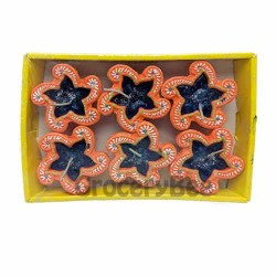 Colourful Diya Tray With Wax 6331