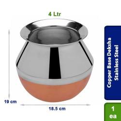 Copper Base Deksha Stainless Steel 4 Ltrs