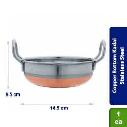 Copper Bottom Kadai Stainless Steel