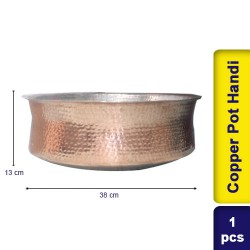 Copper Pot Handi Big