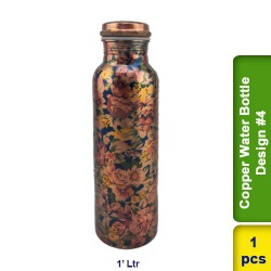 Copper Water Bottle 1L Design #4