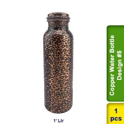 Copper Water Bottle 1L Design #5