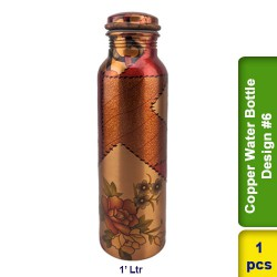 Copper Water Bottle 1L Design #6