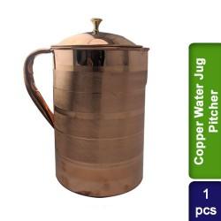 Copper Water Jug Pitcher 2300ml Design #1