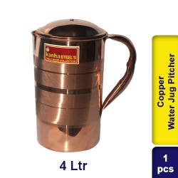 Copper Water Jug Pitcher 4L