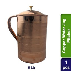 Copper Water Jug Pitcher 6L Design #1