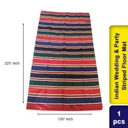 Cotton Vintage Indian Wedding & Party Striped Throw Blanket Floor Mat 130 x 225 cm