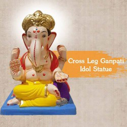 Cross Leg Ganpati Idol Statue