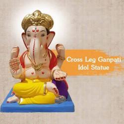 Cross Leg Ganpati Idol Statue