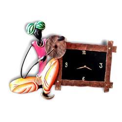 Dafale Man Wall Clock, 20 X 16 Inch