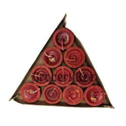 Decorated Diya Tray With Wax 6341