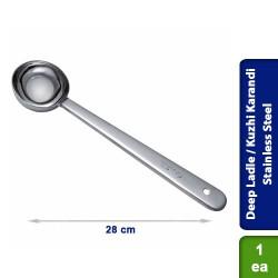Deep Ladle / Kuzhi Karandi Stainless Steel 28cm