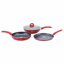 Diamond Pans Set Red Wonderchef