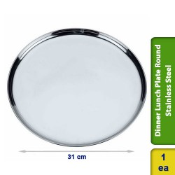 Dinner Lunch Plate Round Stainless Steel 31cm
