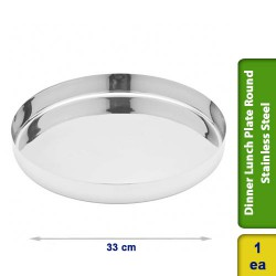 Dinner Lunch Plate Special Special Round Stainless Steel 33cm
