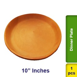 Dinner Plate Earthen Clay 10 inch