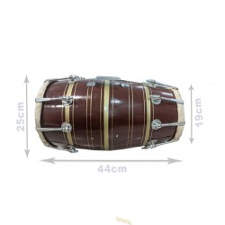 Double Dholak Dholuck Dholuk Indian Percussion Musical Instrument Nut Bult