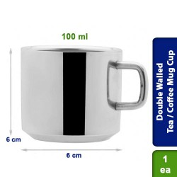 Double Walled Tea / Coffee Mug Cup Stainless Steel