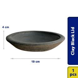 Earthen Clay Black Lid 19 cm