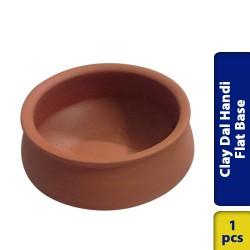 Earthen Clay Dal Handi Flat Base Large