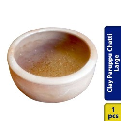 Earthen Clay Paruppu Chatti Large