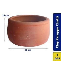Earthen Clay Paruppu Chatti Small 20 x 15 cm