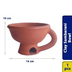 Earthen Clay Sambrani Sambarani Incense Sticks Agarpathi Bowl 1