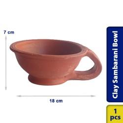 Earthen Clay Sambrani Sambarani Incense Sticks Agarpathi Bowl 2