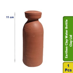 Earthen Clay Water Bottles Clay Lid
