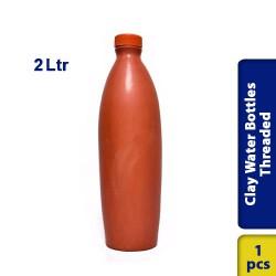 Earthen Clay Water Bottles Threaded Medium 2 Ltr