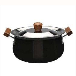 Ebony Hard Anodized Handi With Lid 24cm Wonderchef
