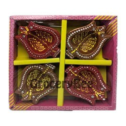 Fancy Diya 4pc Without Wax 6323