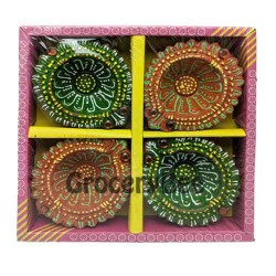 Fancy Diya 4pc Without Wax 6324