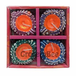 Festival Diya Tray With Wax 2121