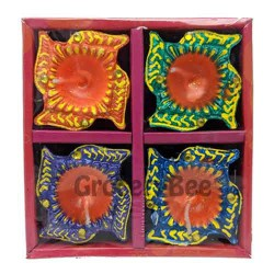 Festival Diya Tray With Wax 2122