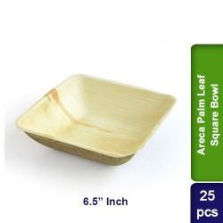 Food Lunch Bowl-Eco Friendly Areca Palm Leaf-6.5 inch Square-25pcs