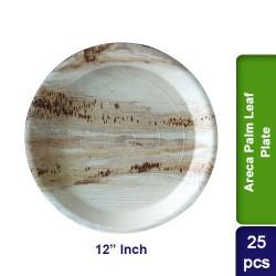Food Lunch Dinner Plates-Eco Friendly Areca Palm Leaf-12 inch CP-25pcs
