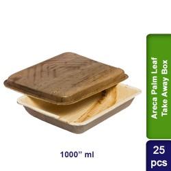 Food Lunch Take away box-Eco Friendly Areca Palm Leaf-1000ml-25pcs