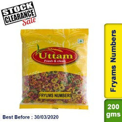 Fryams Numbers Uttam 200g Clearance Sale