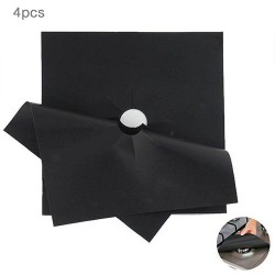 Gas Stove Burner Cover Protector Black