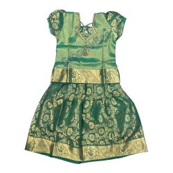Girls Ethnic Wear Green