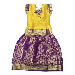 Girls Ethnic Wear Purple Yellow