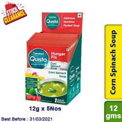 Himalaya Corn Spinach Soup Quista Hunger Fix 12g x 5 Nos - Clearance Sale
