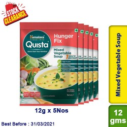 Himalaya Mixed Vegetable Soup Quista Hunger Fix 12g x 5 Nos - Clearance Sale