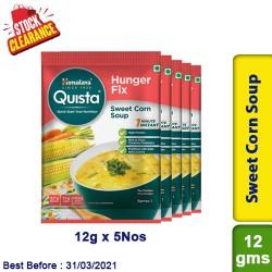 Himalaya Sweet Corn Soup Quista Hunger Fix 12g x 5 Nos - Clearance Sale
