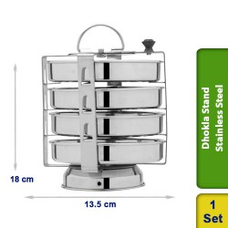 Idiyappam Dhokla Stand / Thatte / Plate with Holes (4 Plates) Stainless Steel
